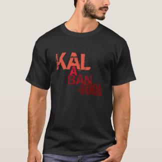 Camiseta Ajustado preto do padrão do t-shirt da flâmula de