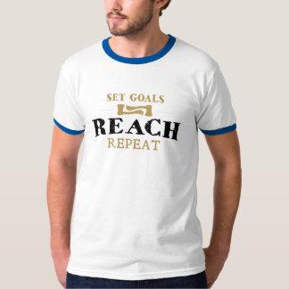 Camiseta Ajuste objetivos, repetição do alcance