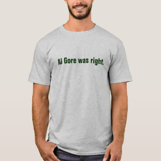 Camiseta Al Gore era direito