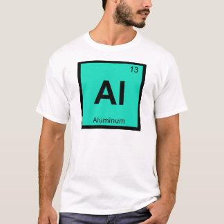 Camiseta Al - símbolo de alumínio da mesa periódica da