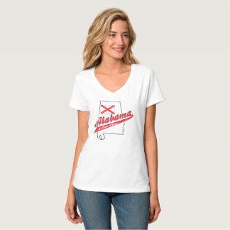 Camiseta Alabama é V Home - parte superior Nano do pescoço
