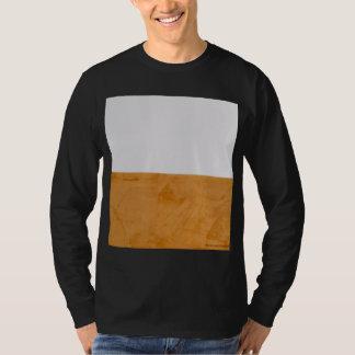 Camiseta Alaranjado gráfico corajoso & branco grandes