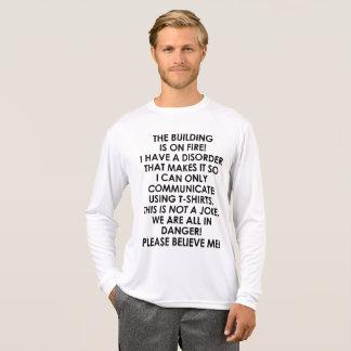 Camiseta Alarme de incêndio/argumento