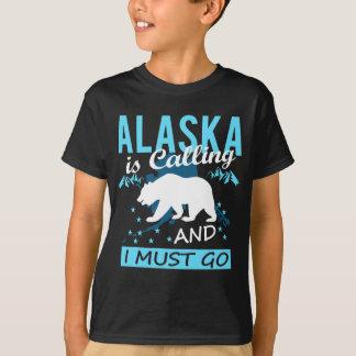 Camiseta Alaska está chamando e eu devo ir