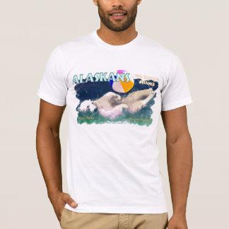 Camiseta Alaskans para alterações climáticas