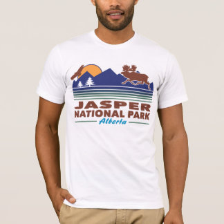 Camiseta Alces do parque nacional de jaspe