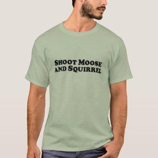 Camiseta Alces do tiro e esquilo - roupa misturada