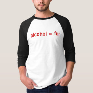 Camiseta álcool = divertimento