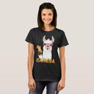 Camiseta Álcool engraçado do vinho do Mimosa do lama de