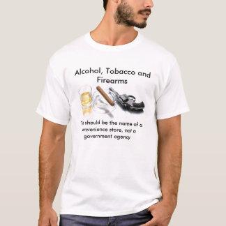 Camiseta Álcool, tabaco e armas de fogo