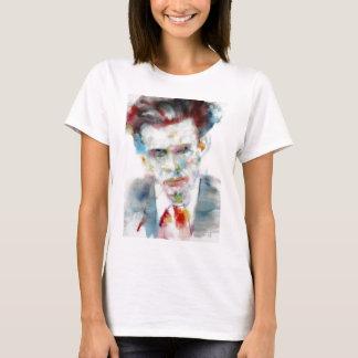 Camiseta ALDOUS HUXLEY - retrato .4 da aguarela