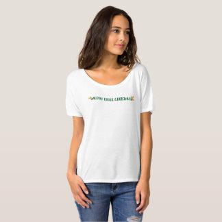Camiseta Alegre pouca aguarela vermelha do verde do ouro do