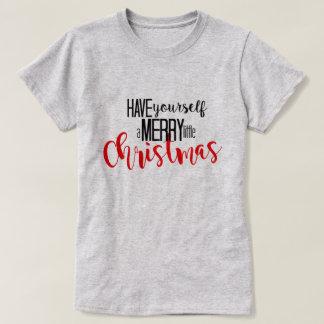 Camiseta alegre pouco Natal