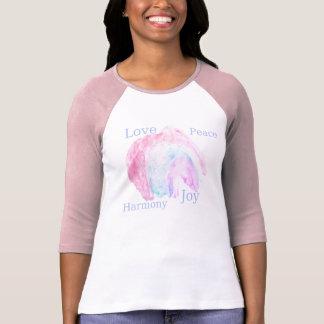 Camiseta alegria da harmonia da paz do amor