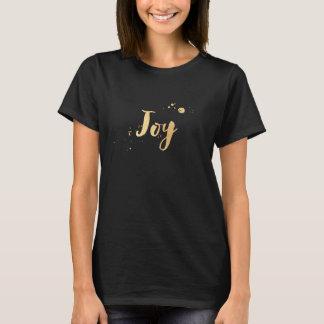 Camiseta Alegria de PixDezines, escova do ouro do falso