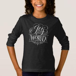 Camiseta Alegria de Swirly à rotulação do Natal do giz do