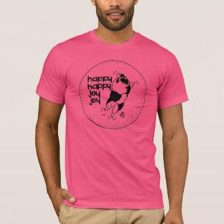 Camiseta Alegria feliz feliz da alegria do Keeshond