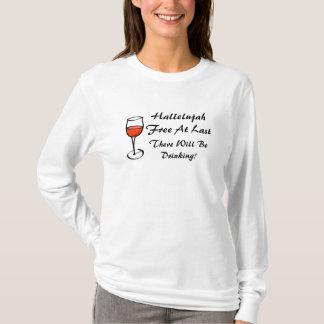 Camiseta ALELUIA divorciada eu sou partido LIVRE do