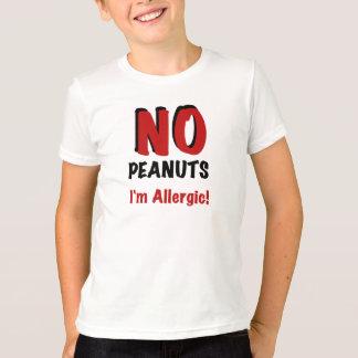 Camiseta Alergia do amendoim