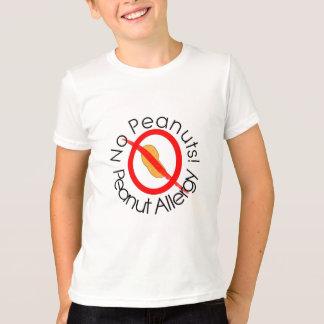 Camiseta Alergia do amendoim nenhum t-shirt dos amendoins