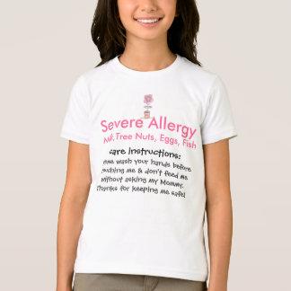 Camiseta alergia doodle-flor-colorida, severa, leite, Tr…