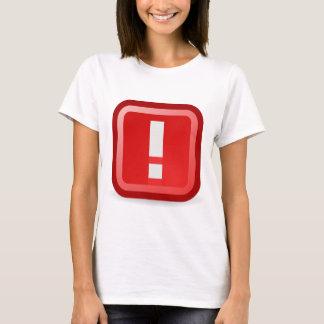Camiseta Alerta vermelho