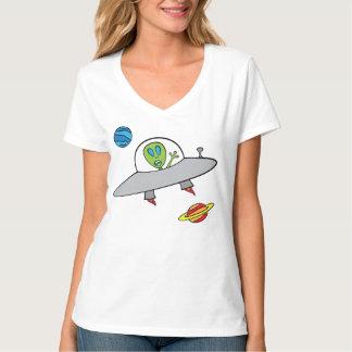 Camiseta Alex a alienígena - t-shirt Nano do V-Pescoço,