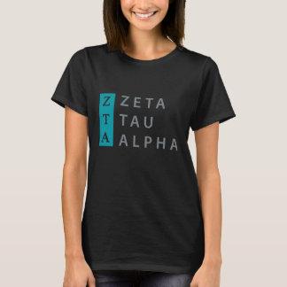 Camiseta Alfa da tau do Zeta empilhado