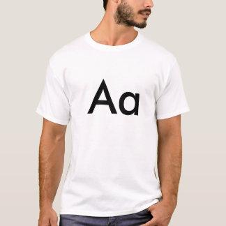 Camiseta Alfabeto - Aa