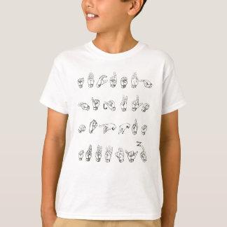 Camiseta Alfabeto do linguagem gestual