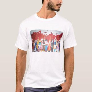 Camiseta alfabeto e posters de URSS