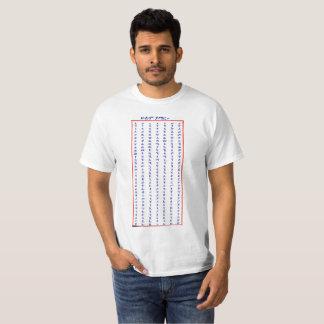 Camiseta Alfabeto etíope - t-shirt do poster de AhBuGiDa