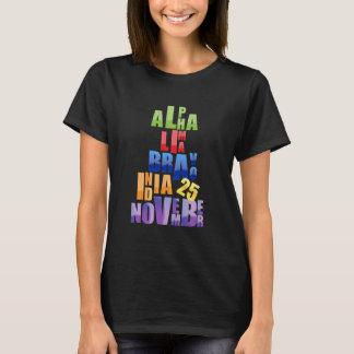 Camiseta Alfabeto fonético de Albin 25