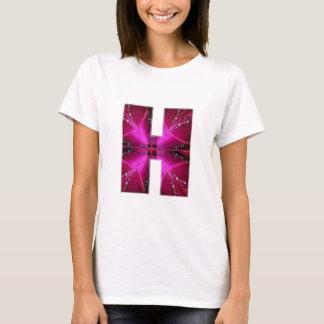 Camiseta Alfabeto H HH HHH:  Círculo da estrela do tema da