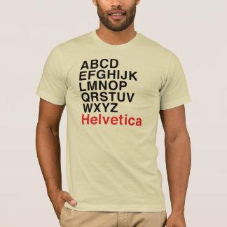 Camiseta Alfabeto Helvética da pia batismal