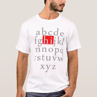 Camiseta Alfabeto HI