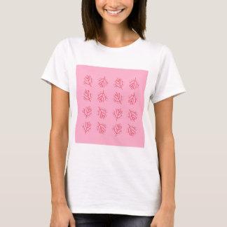 Camiseta Algas ROSAS VERMELHA. T-shirt e mais