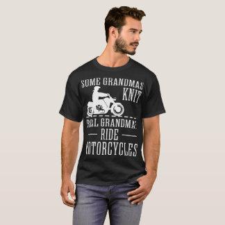 Camiseta Algumas avós Sew motocicletas reais do passeio das