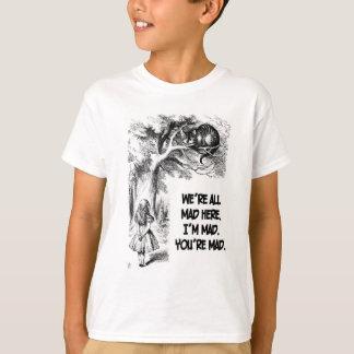 Camiseta Alice em artigos do gato de Cheshire do país das