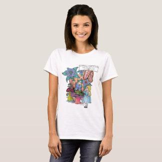 Camiseta Alice no país das maravilhas, Alice encontra