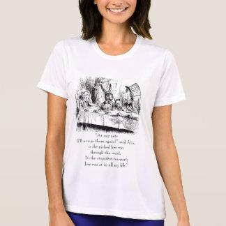 """Camiseta Alice & o tea party louco com citações """"as mais"""