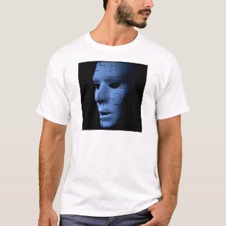 Camiseta Alienígena espectral azul como o azulejo Face.jpg