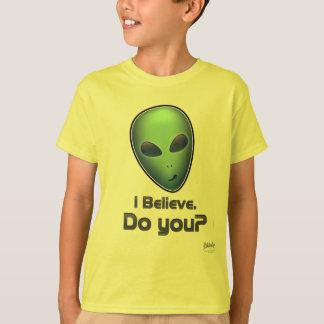 Camiseta Alienígena: Eu acredito. Faz você? T-shirt dos