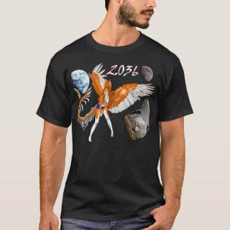 Camiseta alienígena peludo asteróide do dragão do coelho do