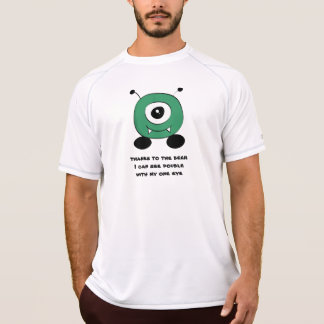 Camiseta Alienígena verde engraçada bonito