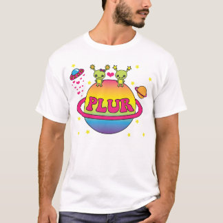 Camiseta Aliens bonitos Plur de Kawaii