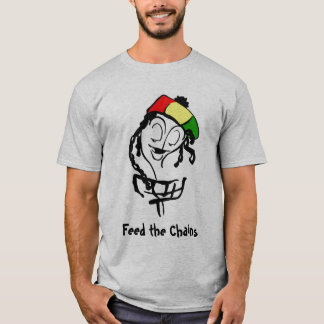 Camiseta Alimente as correntes, cesta de Rasta