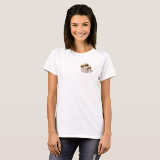 Camiseta Alimente o t-shirt das mulheres dos Mycelia