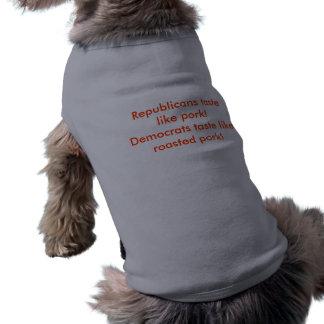 Camiseta Alimente seu cão com políticos