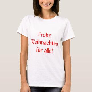 Camiseta Alle da pele de Frohe Weihnachten